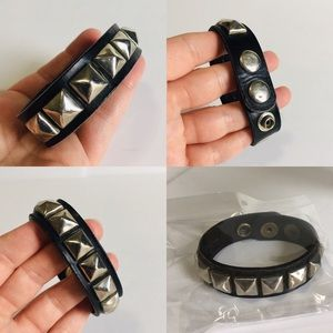 Vintage Studded Leather Bracelet